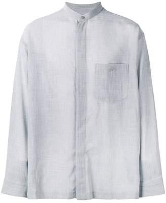 Issey Miyake band collar shirt