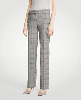 Ann Taylor The Straight Leg Pant In Glen Plaid - Curvy Fit