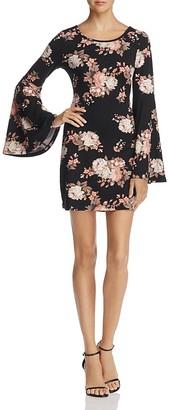 AQUA Bell Sleeve Floral Print Dress - 100% Exclusive $78 thestylecure.com