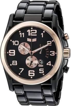 Vestal Men's DEV010 De Novo Black Rose Gold Watch