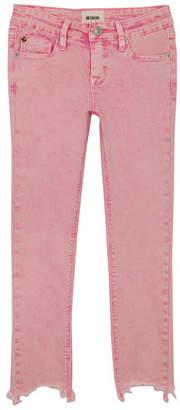 Hudson Wren Raw-Hem Skinny Jeans, Size 4-6X