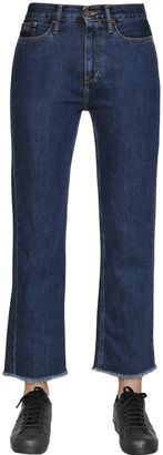 Straight Cropped Cotton Denim Jeans $120 thestylecure.com