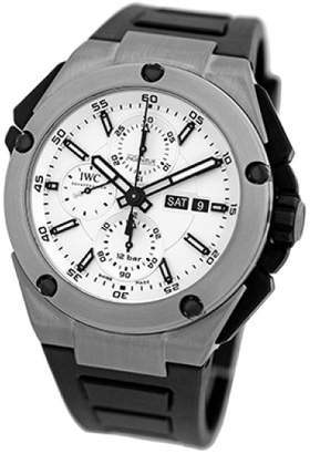 "IWC Ingenieur Double Chronograph"" Titanium Automatic Mens Strap Watch"