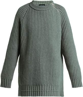 Calvin Klein Side-zip oversized lambswool sweater