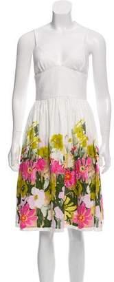Trina Turk Floral Print Sleeveless Dress