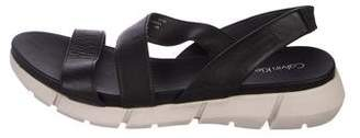 Calvin Klein Leather Flat Sandals