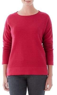 Olsen Berry Love Waffle-Knit Sweater