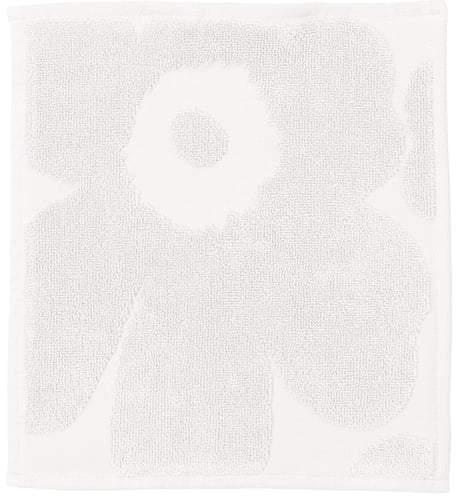 Unikko Solid Mini-Handtuch 25 x 25 cm, Weiß