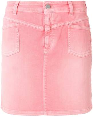 Closed ombré denim skirt