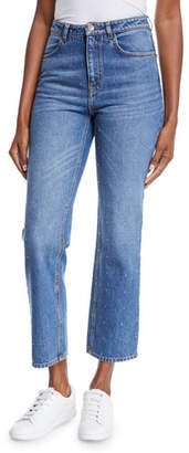 A.L.C. Malone Studded High-Waist Jeans