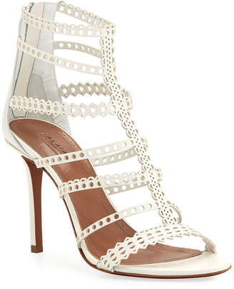 Alaia Vienne Cutout Caged Sandals