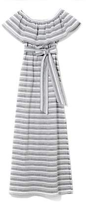 Vince Camuto Striped Off-the-shoulder Maxi Dress
