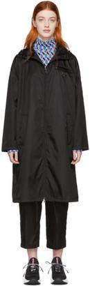 Prada Black Nylon Long Coat
