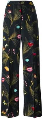 Fendi floral print trousers