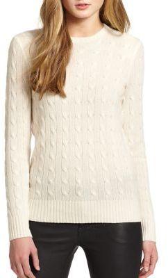 Polo Ralph Lauren Cashmere Crewneck Sweater $398 thestylecure.com
