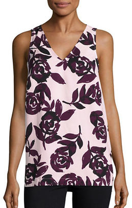 Lord & Taylor Floral Crepe Top $80 thestylecure.com