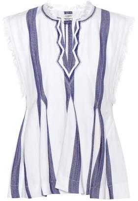 Etoile Isabel Marant Isabel Marant, Étoile Drappy striped cotton top