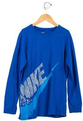 Nike Boys' Graphic Long Sleeve Shirt