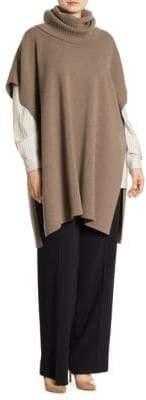 Marina Rinaldi Marina Rinaldi, Plus Size Plus Aqua Cashmere Knit Poncho