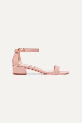 Stuart Weitzman Nudistjune Patent Textured-leather Sandals - Pink