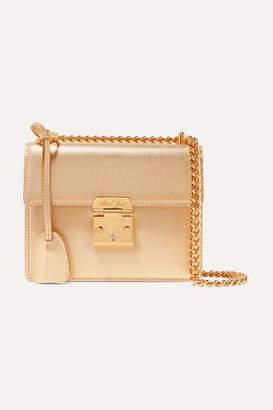 Mark Cross Zelda Textured-leather Shoulder Bag - Gold