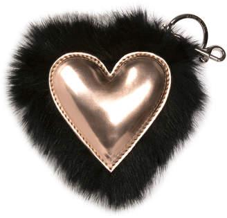 Stella McCartney Faux-Fur Heart Key Ring