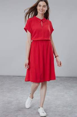 Joules Womens Red Etty Broderie Dress - Red