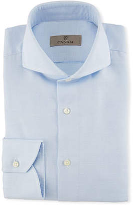 Canali Textured Solid Dress Shirt