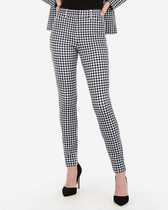 Express High Waisted Gingham Print Stretch Skinny Pant