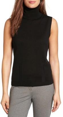 Women's Emerson Rose Silk & Cashmere Blend Turtleneck Shell $79 thestylecure.com
