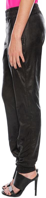 Monrow Vegan Leather Sweatpant