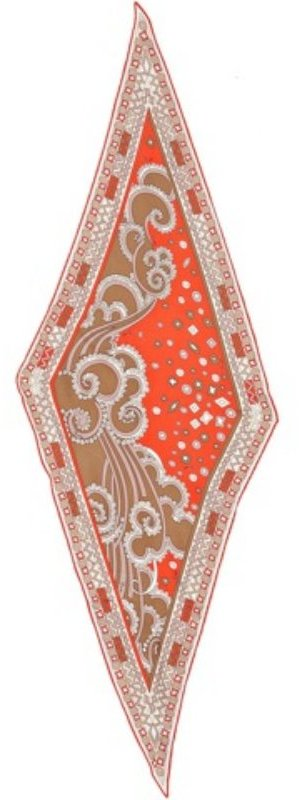Emilio Pucci orange windy print silk scarf