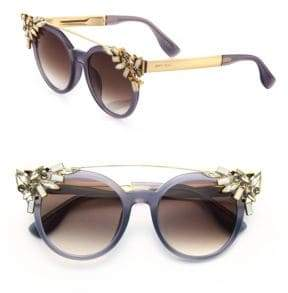 Jimmy Choo Vivy 51MM Crystal-Embellished Cats-Eye Sunglasses