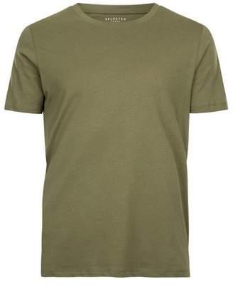 Topman Mens SELECTED HOMME Khaki T-Shirt