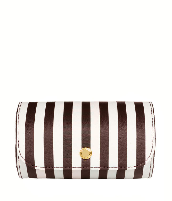 Brown & White Stripe Bangle Travel Case