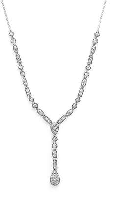 Bloomingdale's Diamond Y Necklace in 14K White Gold, 2.0 ct. t.w. - 100% Exclusive