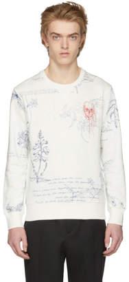 Alexander McQueen White Explorer Sweatshirt
