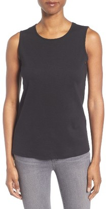 Women's Eileen Fisher Slim Organic Cotton Knit Shell $58 thestylecure.com