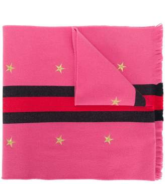 Gucci embroidered star scarf