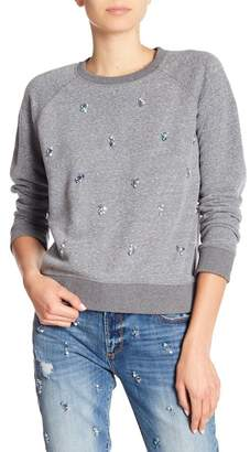 Driftwood Embellished Raglan Knit Sweater