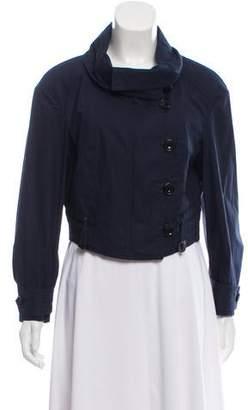 Burberry Collared Asymmetrical Jacket