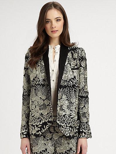 Haute Hippie Embroidered Silk Jacket