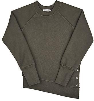 Mimobee Weekend Grommet-Embellished Cotton Sweatshirt $78 thestylecure.com