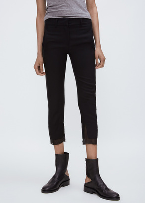 Ann Demeulemeester glace nero washed cutout back ankle boot $1,381 thestylecure.com