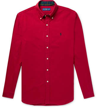 Polo Ralph Lauren Slim-Fit Button-Down Collar Brushed-Cotton Shirt