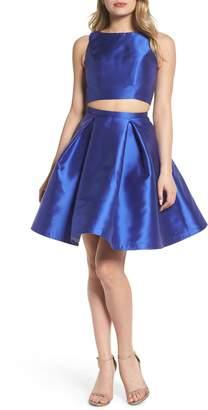 Mac Duggal Skater Skirt Two-Piece Dress
