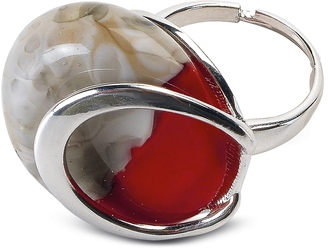 Antica Murrina Oriental - Red Murano Glass Ring w/Crackling Effect $88 thestylecure.com