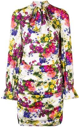 Dolce & Gabbana floral draped mini dress