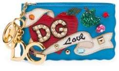 Dolce & Gabbana Embellished Zip Coin Purse