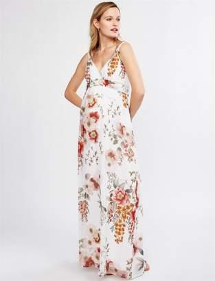 96bf55eaf355d Pietro Brunelli Pea Collection Murano Print Maternity Maxi Dress